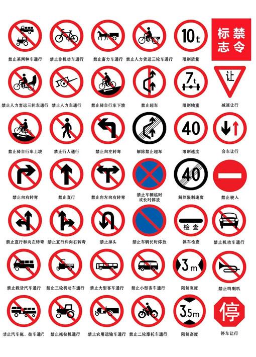 交通标志牌 禁令标志